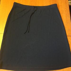 Black Oldy Navy Midi Skirt